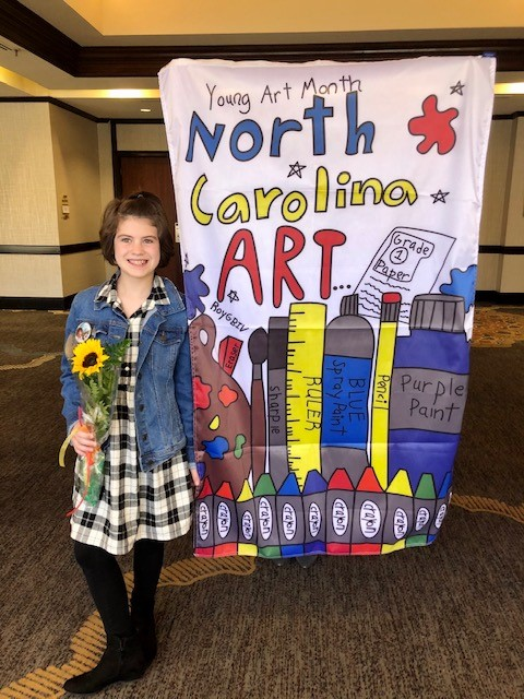 Art by Clemmons Student Displayed at National Conference