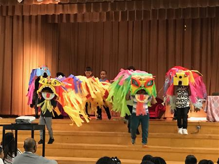 Celebrating Chinese New Year at Hall-Woodward Elementary