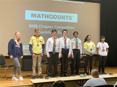 Hanes Mathcounts Team Wins First Place