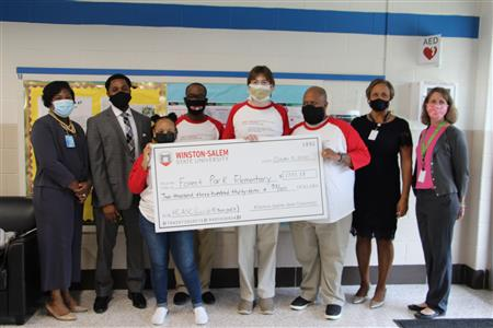 Winston-Salem State Makes Gift to Forest Park Elementary