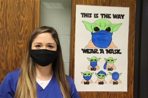 Yoda Welcomes Second & Third-Graders at South Fork Back into the Classroom
