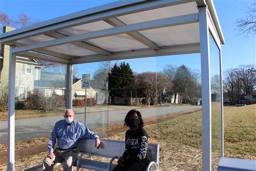 A Bus Shelter for Students Attending Main Street Academy