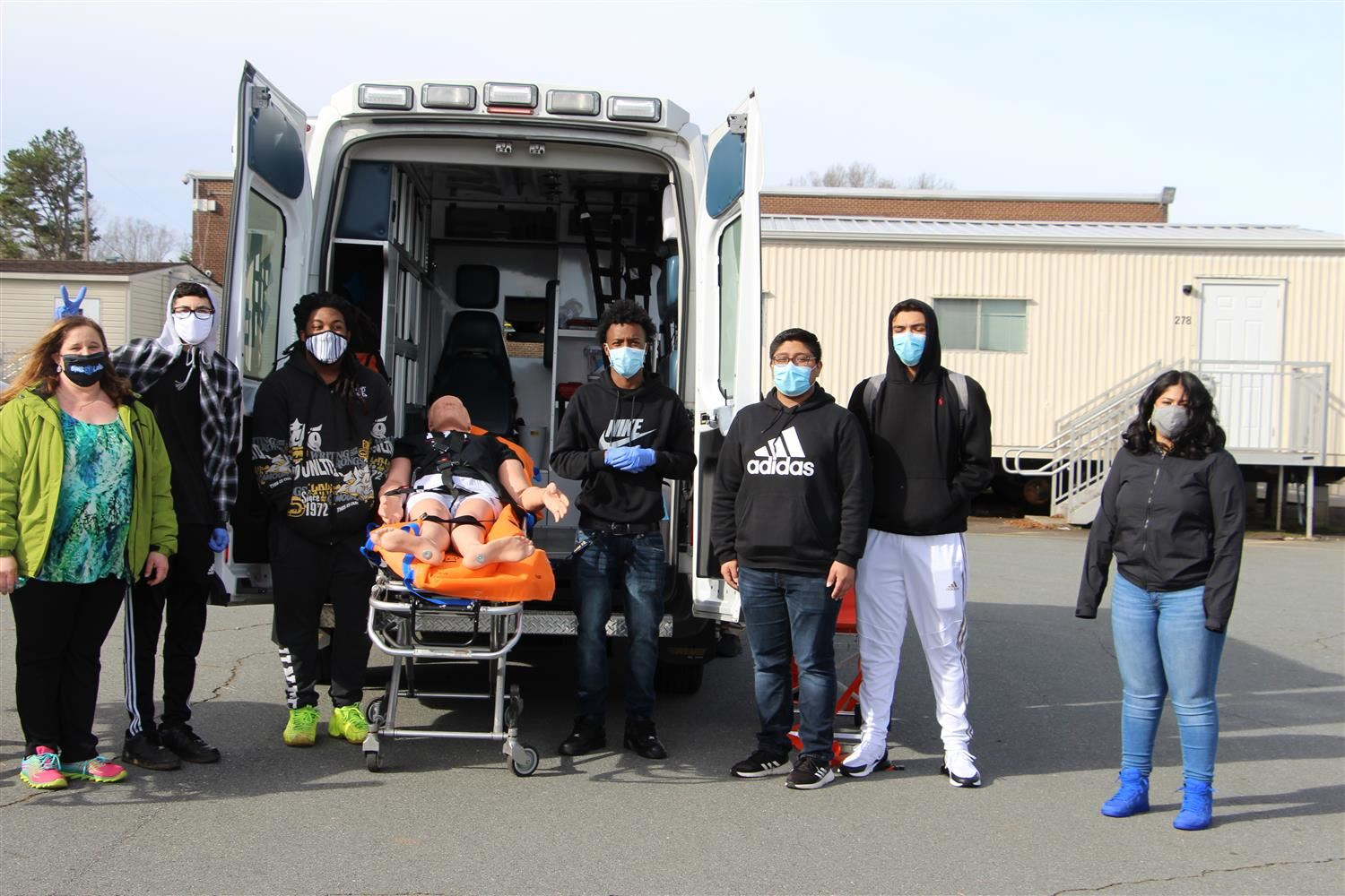 Hands-On Experience with an Ambulance for North Forsyth EMT Students