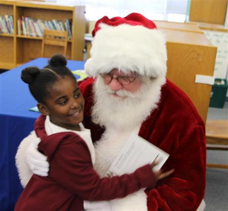 State Superintendent Brings Santa to Cook