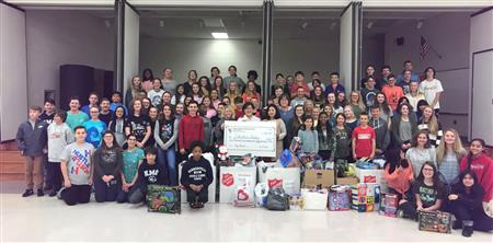 Honor Society at Kernersville Middle Sponsors Toy Drive