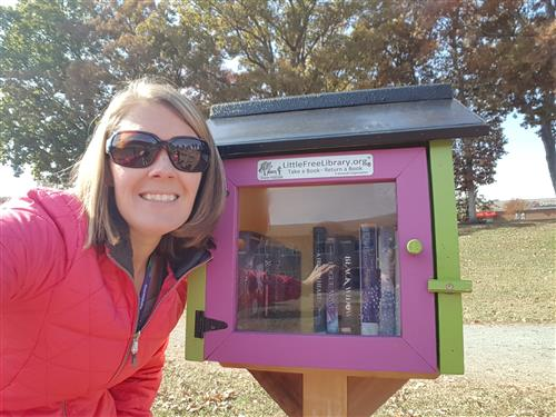 A Little Library at Moore Elementary