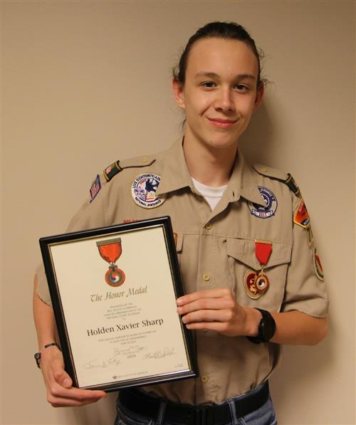 Reagan/Career Center Student Receives Honor Medal from Boy Scouts