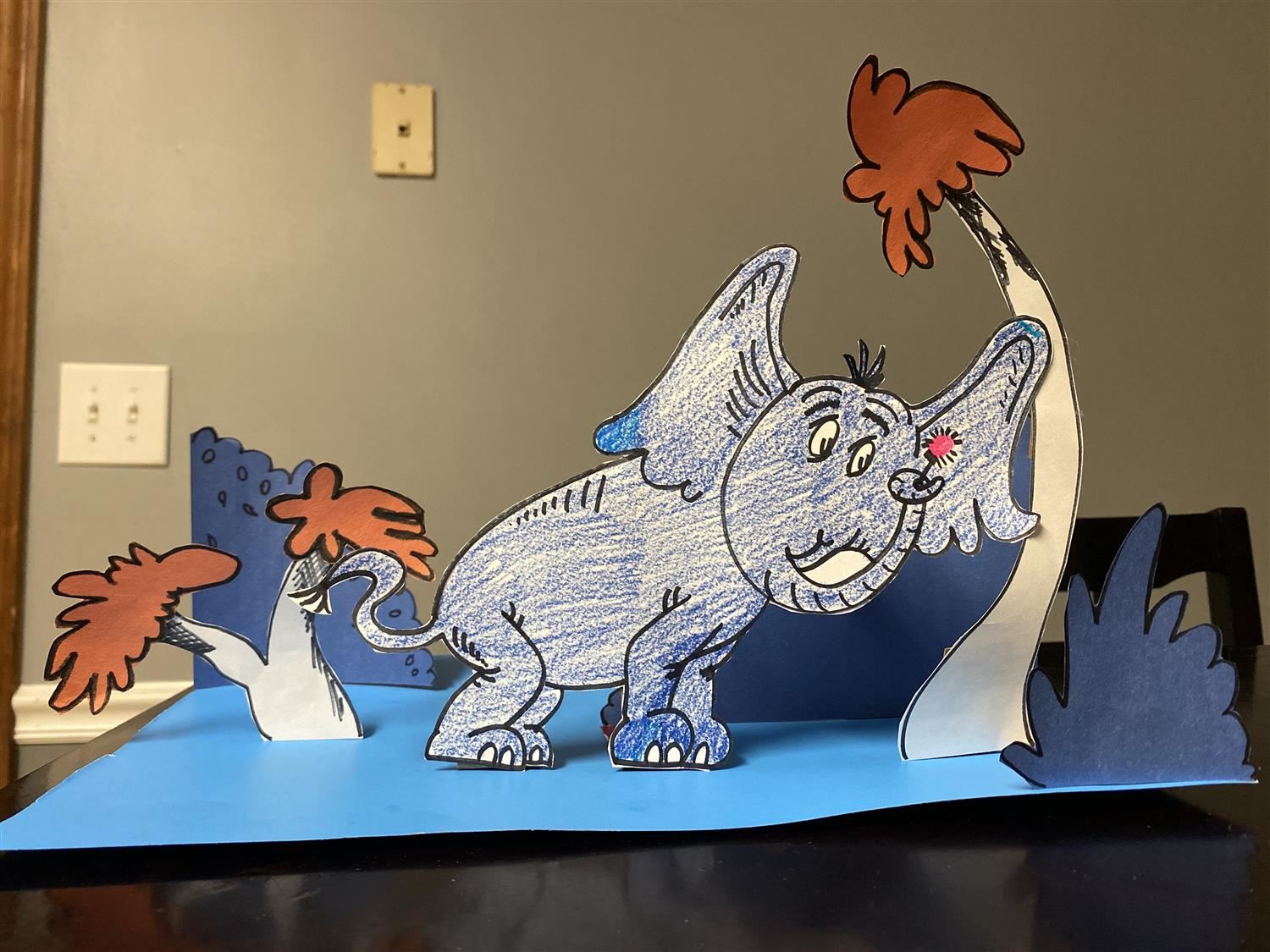Students at Virtual Academy Create Art Inspired by Dr. Seuss