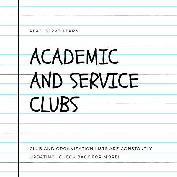 academic and service clubs