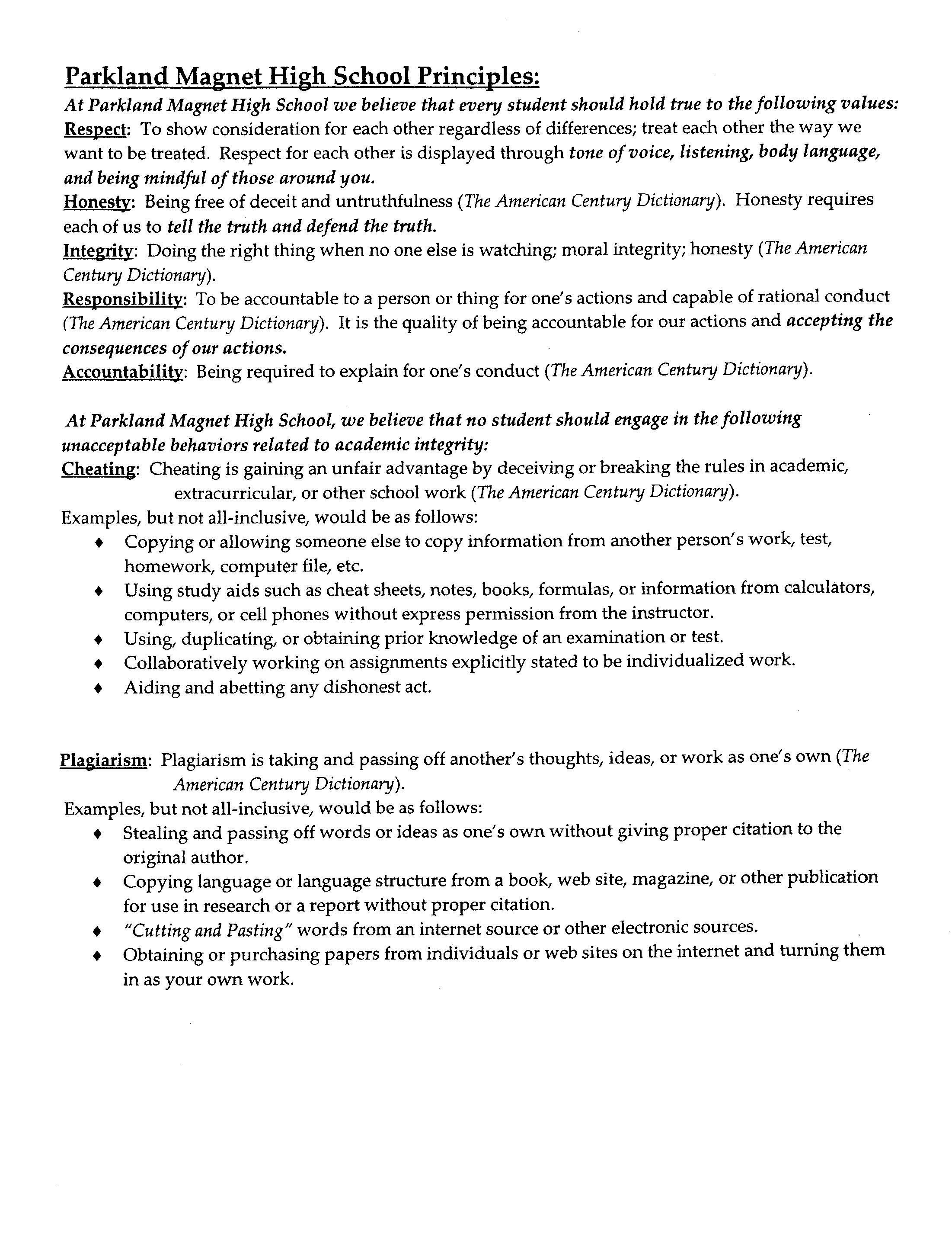 honor code essay page honor code essay julia kittle kamp yh staff honorcode julia