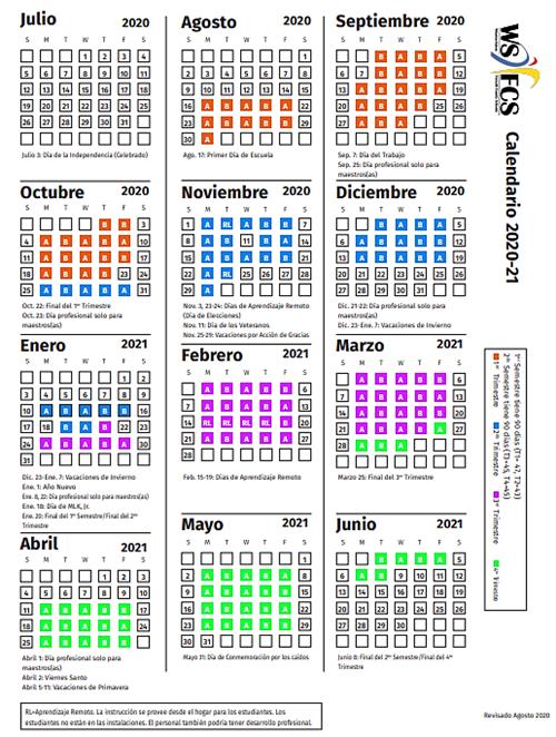 Wsfcs 2021 Calendar | Calendar 2021
