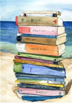 reading on the beach!