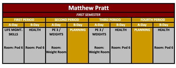 pratt schedule