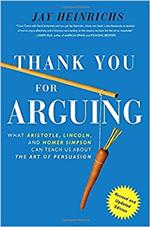 Thank you for arguing book cover