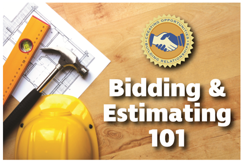 Bidding and Estimating 101 advertisement for classes