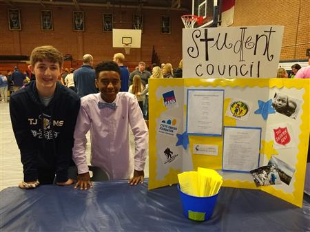 6th Grade Open House Student Council Table