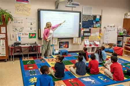 Teacher at Petree Elementary Involved in Engaging Lesson