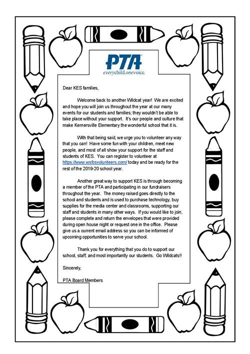 Welcome to the PTA!
