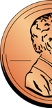 clipart image of half of a penny