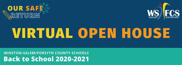 Virtual Open House banner image for schools