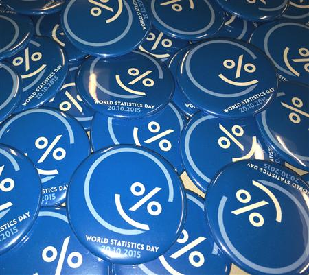 World Statistics Day buttons
