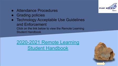 2020-2021 Remote Student Learning Handbook