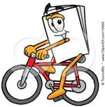 book riding bike