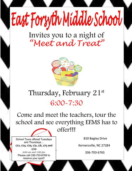 Open House on February 21, 6:00-7:30pm