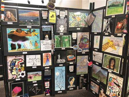 Congrats  to the following 48 students who have contributed a total of 50 works of art to be displayed at the Spring Extravaganza! The work is being displayed at the Sawtooth Center for Visual Arts in down town Winston Salem all next week.