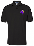 Black Cotton Polo