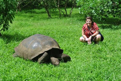 Me with the Galapagos Turlte in Ecudor