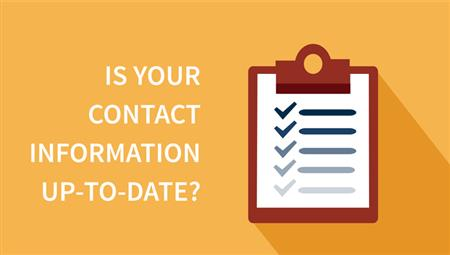 Update your contact info!