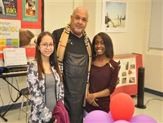 Career Center Cosmetology students with Cosmetology instructor Mr Peterson