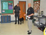 Officer Zertuche and Officer Convery, Law Enforcement from Winston Salem Police Department and a Drug Canine