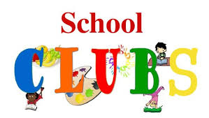 Clip art says School Clubs