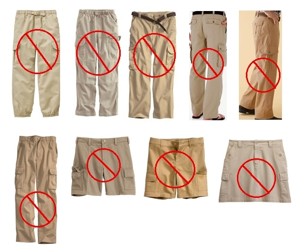 Examples of Inappropriate Pants