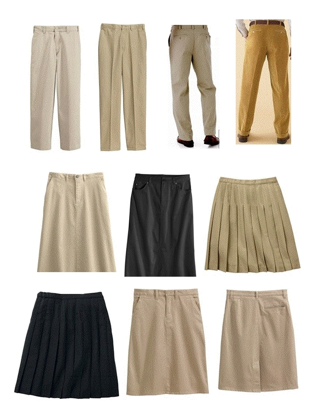 Appropriate examples of pants