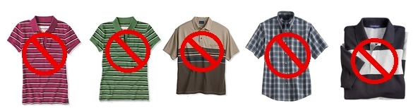 Examples of Inappropriate Shirts