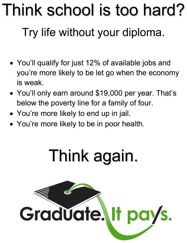 Graduate!  It Pays!