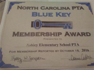 Ashley Academy PTA Status