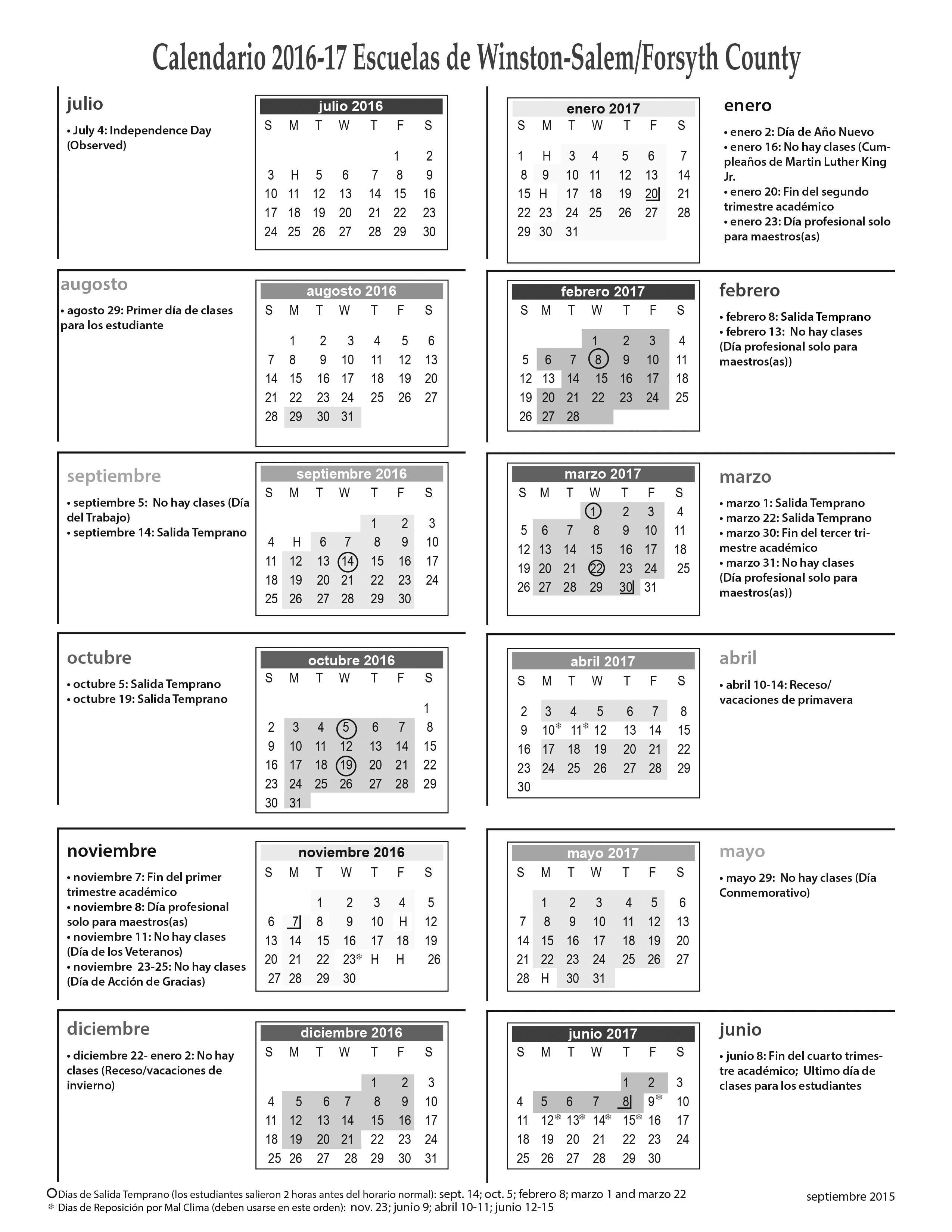 Wsfcs Calendar 2016 2020 Wsfcs Calendar | 2020 Calendar