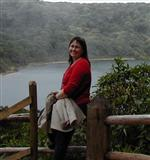 Mrs. Neff at the edge of Poas' lake crater.
