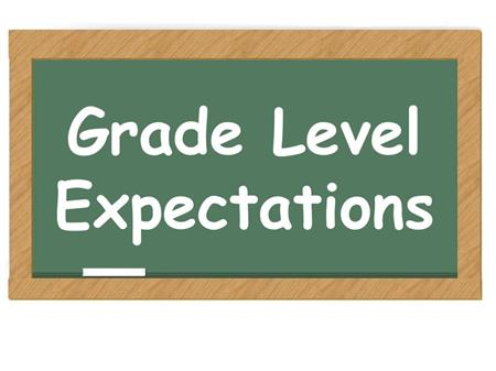 Grade Level Expectations