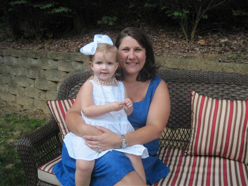 This is a photo of Mrs. Heitman and her two-year old daughter, Leah.