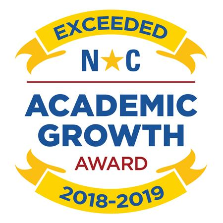 image logo for exceeding growth in 2018-2019 school year