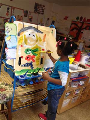 Pre-K student Painting