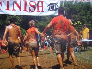 Mud run finish