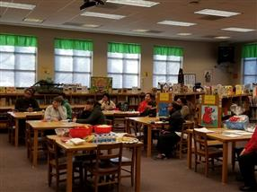 Parents at the Literacy Meeting in the Media Center