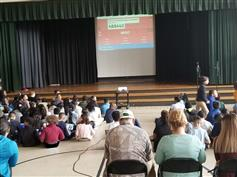 Our 4th Grade Rock Researchers in technology did a presentation using Kahoot. The audience got to participate.