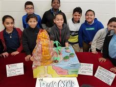 Some members of the 4th grade Rock Research team.